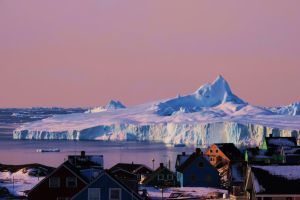 iceberg and city by Nukarleq