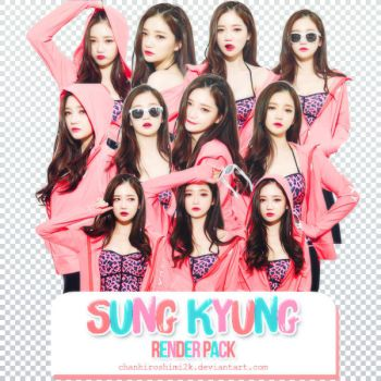 [RENDER PACK 9] Sung Kyung by ChanHiroshimi2k