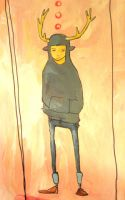 The Boy with the Antler Hoodie by julip