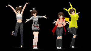 MMD - All My Selfy Models So Far! by Rayne-Ray