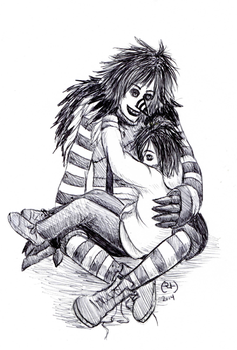 Little Jeff and Laughing Jack by blood666vampire