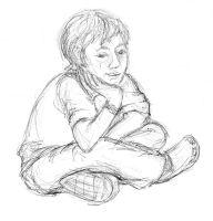 Pose study of a youth by bluefootednewt