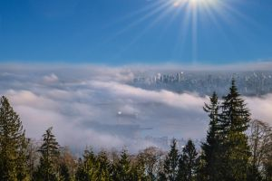 Fog above Vancouver by dashakern