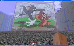 Tom And Jerry On Minecraft by Miccopicco