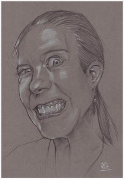 JennIsFit crazyface pencils by jetdog-art