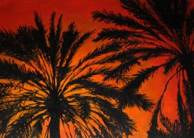 Christmas Palms by lookhappy