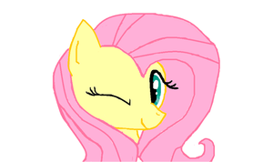 Fluttershy Wink by SportaTiffany