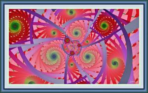 Rainbow Mandala Gamma Julia+Parameters by PrayingMantis69