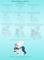 Tutorial: How to Draw an Alicorn by MissSeaShanty