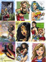 DC Legacy sketch cards by RenaeDeLiz