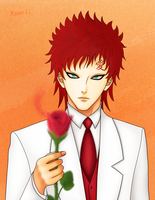 Gaara the Sand Rose by RaineLi