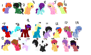 Foal Adoptable Batch  20/22  reduced prices again by piepiepinkype