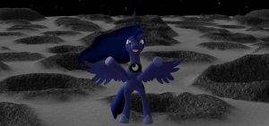 Luna welcomes you to the moon by insaneplayer03