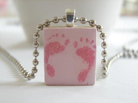 It's a Girl Scrabble Pendant by PastryStitches