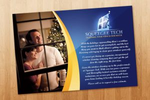 Squeegee Tech Christmas Flyer by ipholio