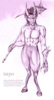 Demon - Satyr by serpentwitch