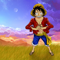 Luffy Lineart Coloring by Rondey84