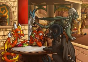 Commish : Dragonfruit Outing by WeirdHyena