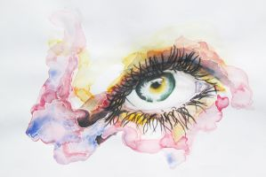 Watercolour Eye by ScrawlTheatre
