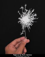 Happy Diwali - Papercut - Sparkle - Fireworks by ParthKothekar