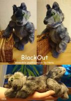 Anthro BlackOut Plushie by Nenu