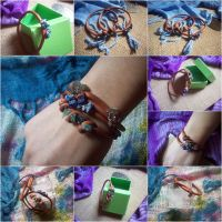Sparkling Polymer Clay Bangles by ChrisOnly