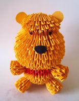 3D origami: Pooh Bear by Weezaround