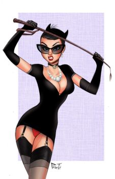 Catwoman Bombshells by DarthTerry