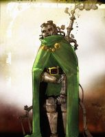 SteamPunk DOOM by darrenrawlings