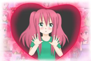 Wallpaper - Trapped within my own heart - Cherry by Rozala
