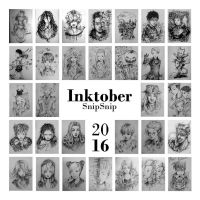 Inktober 2016 FINISHED by SnipSnipArt