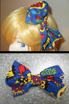 Comic Book Print Hairbows -FOR SALE- by OriginallyMyself