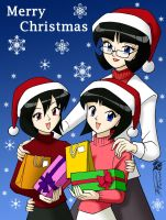 Simmons sisters for Christmas by ArthurT2013