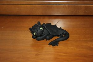 Toothless Clay Figure by Stargazer96