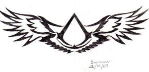 Altair tattoo symbol by Saera-Song