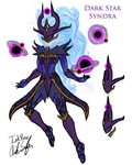Dark Star Syndra (WIP) by InkRose98
