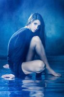Blue. reflection by bagdasar