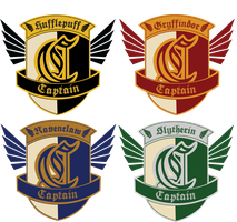 HA: Quidditch Captain Badges by dreaminpng