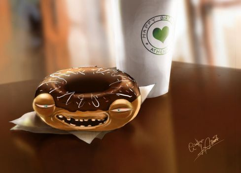 Coffee and a Donut by Jack-R-Abbit