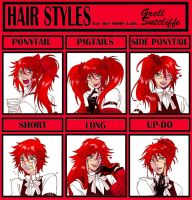 Hair Meme: Grell Sutcliffe by claudiakat