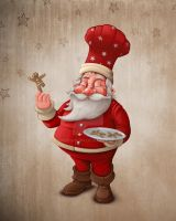 Santa Claus pastry by jordygraph