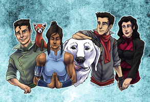 Korra's Krew by lycanthropeful