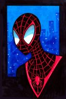 Ultimate Spiderman Headshot by RichBernatovech