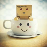 Danbo in the cup by IkyuValiantValentine