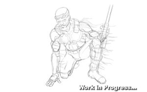 SniperMan Veteran - Caracter Sketch WIP by Unreal-Forever