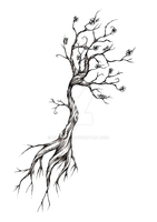 Tree Tattoo Design by meripihka
