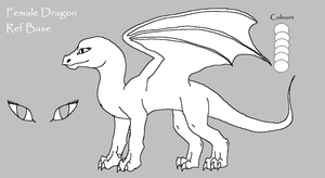 Free Female Dragon Lineart by meroaw
