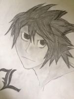 L Lawliet (Death Note) by UNoWhoOwnsArt