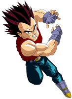 Dragonball GT - Vegeta Color by TriiGuN