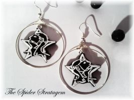 Gothic earrings 'the sisters of mercy' batcave by TheSpiderStratagem
